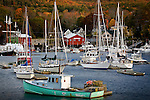 An autumn morning in Camden Harbor, Camden, ME, USA
