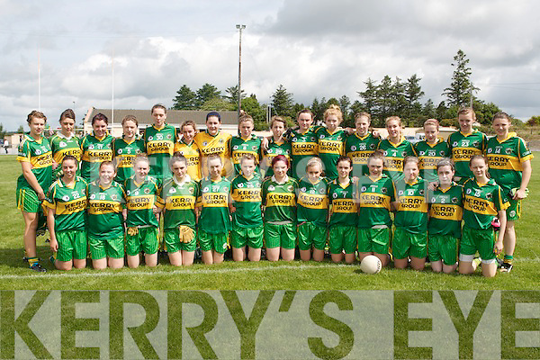 MUNSTER CHAMPIONS: The Kerry Ladies U16's team who beat Cork 5:10 to 0:3 to win the Munster U16 A Championship Final at Brosna GAA grounds on Saturday.