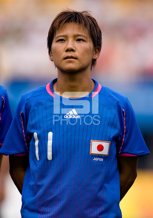 Shinobu Ohno. The US defeated Japan, 1-0, during the 2008 Beijing Olympics in Qinhuangdao, China.
