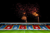 The Blackburn Rovers fans are treated to a fireworks display after the match<br /> <br /> Photographer Alex Dodd/CameraSport<br /> <br /> The EFL Sky Bet Championship - Blackburn Rovers v Queens Park Rangers - Saturday 3rd November 2018 - Ewood Park - Blackburn<br /> <br /> World Copyright &copy; 2018 CameraSport. All rights reserved. 43 Linden Ave. Countesthorpe. Leicester. England. LE8 5PG - Tel: +44 (0) 116 277 4147 - admin@camerasport.com - www.camerasport.com