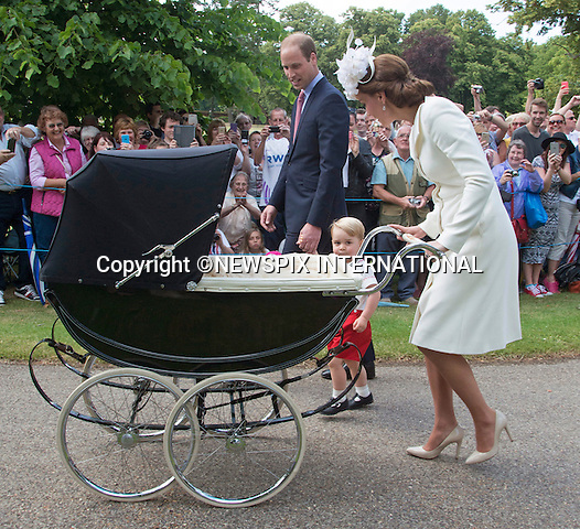 05.07.2015; Sandringham, UK: PRINCESS CHARLOTTE CHRISTENING<br />