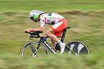 Polka Dot Jersey Pierre Luc Perichon (FRA) Team Fortuneo-Samsic in action during Stage 4 of the Paris-Nice 2018 an 18km individual time trial running from La Fouillouse to Saint-Etienne, France. 7th March 2018.<br /> Picture: ASO/Alex Broadway | Cyclefile<br /> <br /> <br /> All photos usage must carry mandatory copyright credit (&copy; Cyclefile | ASO/Alex Broadway)