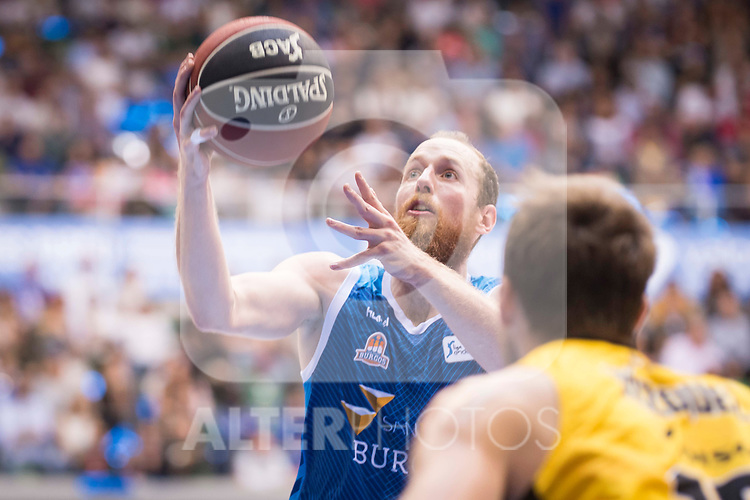 San Pablo Burgos's Thomas Schreiner during Liga Endesa match between San Pablo Burgos and Iberostar Tenerife at Coliseum Burgos in Burgos, Spain October 01, 2017. (ALTERPHOTOS/Borja B.Hojas)