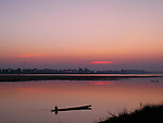 Mekong River at Sunset, Vientiane, Laos