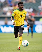 PHILADELPHIA, PA - JUNE 30: Shaun Francis #14 during a game between Panama and Jamaica at Lincoln Financial Field on June 30, 2019 in Philadelphia, Pennsylvania.