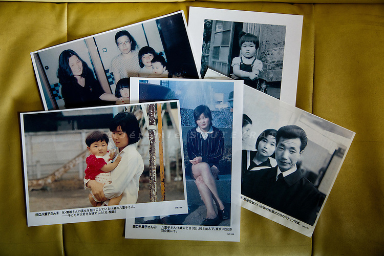 Tokyo, October 25 2012 - At the office of NARKN, National Association for the Rescue of Japanese Kidnapped by North Korea. Pictures of Yaeko Taguchi kidnapped in 1978 by North Korea.