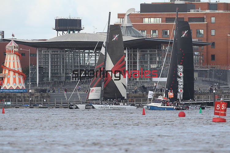 Extreme Sailing Series.Cardiff Bay.30.08.12.©Steve Pope
