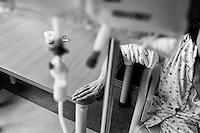 Milano: reparto di malattie infettive dell'Ospedale Sacco.<br /> Una donna ricoverata per AIDS.<br /> <br /> <br /> <br /> Milan: Department of Infectious Diseases Sacco Hospital. <br /> A woman suffering from AIDS