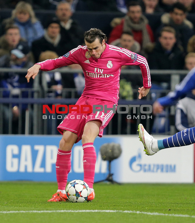 18.02.2015, Veltins-Arena, Gelsenkirchen, Championsleague, FC Schalke 04 vs. Real Madrid<br /> Gareth Bale (Real Madrid)<br /> Foto &copy; nordphoto /  Bratic