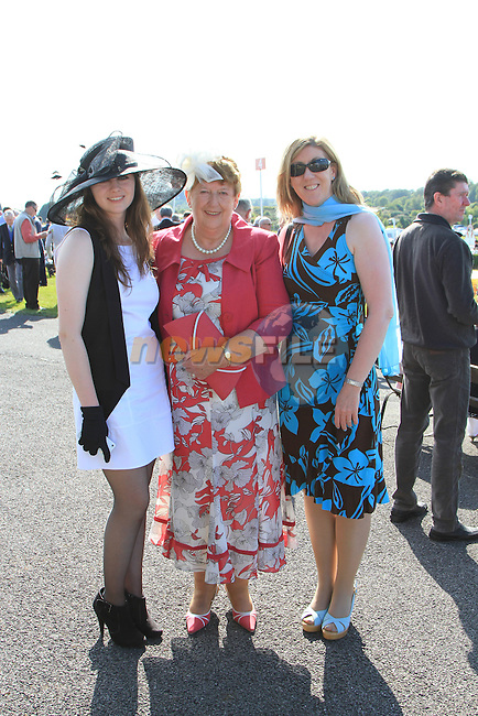 Sarah Murphy, Ann Buckley and Deirdre Murphy at the Bellewstown Races 2011...(Photo credit should read Jenny Matthews www.newsfile.ie)....This Picture has been sent you under the conditions enclosed by:.Newsfile Ltd..The Studio,.Millmount Abbey,.Drogheda,.Co Meath..Ireland..Tel: +353(0)41-9871240.Fax: +353(0)41-9871260.GSM: +353(0)86-2500958.email: pictures@newsfile.ie.www.newsfile.ie.