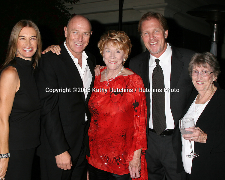 Amanda Pays, Corbin Bernsen,Jeanne Cooper, Collin Bernsen & Jeanne's sister Evelyn  at a private 80th Birthday party for Jeanne Cooper hosted by Lee Bell at her home in Beverly Hills, CA on.October 23, 2008.©2008 Kathy Hutchins / Hutchins Photo...                .
