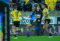Bulls Cornal Hendricks reacts to losing the ball forward in the final play of the Super Rugby quarterfinal between the Hurricanes and Bulls at Westpac Stadium in Wellington, New Zealand on Saturday, 22 June 2019. Photo: Dave Lintott / lintottphoto.co.nz