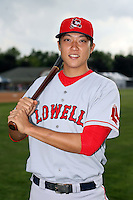July 10th 2008:  Jonathan Hee of the Lowell Spinners, Class-A affiliate of the Boston Red Sox, during a game at Dwyer Stadium in Batavia, NY.  Photo by:  Mike Janes/Four Seam Images