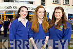 Caiti Garvey, Eimear Nic Eoin, Dearbhla Ruiséal, Pobalscoil Chorca Dhuibhne at the Blue Sky Day in the Brandon Conference Centre on Friday.