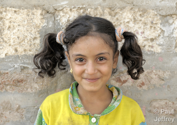 A girl in the Egyptian village of Towa.