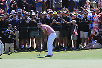 Patrick Reed (USA) on the 15th green during the First Round - Four Ball of the Presidents Cup 2019, Royal Melbourne Golf Club, Melbourne, Victoria, Australia. 12/12/2019.<br /> Picture Thos Caffrey / Golffile.ie<br /> <br /> All photo usage must carry mandatory copyright credit (© Golffile | Thos Caffrey)