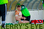 James O'Donoghue Legion injures his shoulder in the Kerry County Senior Football Final at Fitzgerald Stadium on Sunday.