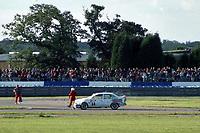 Final round of the 1991 British Touring Car Championship. #58 Jeff Wilson (GBR). HWR Motorsport. Vauxhall Belmont.