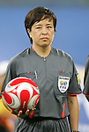 09 August 2008: Match referee Niu Huijun (CHN).  The women's Olympic soccer team of Brazil defeated the women's Olympic soccer team of North Korea 2-1 at Shenyang Olympic Sports Center Wulihe Stadium in Shenyang, China in a Group F round-robin match in the Women's Olympic Football competition.