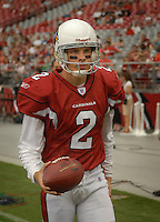 Aug 18, 2007; Glendale, AZ, USA; Arizona Cardinals kicker Rickey Schmitt (2) against the Houston Texans at University of Phoenix Stadium. Mandatory Credit: Mark J. Rebilas-US PRESSWIRE Copyright © 2007 Mark J. Rebilas