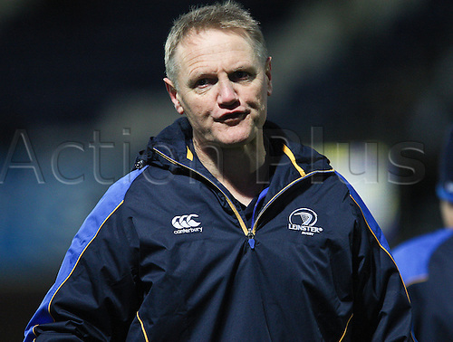 27.10.2012 Dublin, Ireland.Leinster coach Joe Schmidt, before the start, the RaboDirect PRO12 game between Leinster and Cardiff Blues from the Royal Dublin Society.