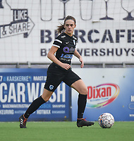 20181006 - DIKSMUIDE , BELGIUM : KRC Genk's Fien Steyvers  pictured during a soccer match between the women teams of Famkes Westhoek Diksmuide Merkem and KRC GENK B  , during the 3th matchday in the 2018-2019  Eerste klasse - First Division season, Saturday 6 October 2018 . PHOTO SPORTPIX.BE | DIRK VUYLSTEKE