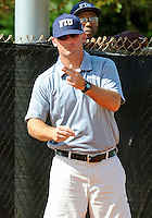 Florida International University Head Coach Jake Schumann during the game against the University of Massachusetts which won the game 3-1 on February 11, 2012 at Miami, Florida. .