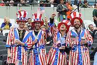 07 October 2015: USA fans during Match 31 of the Rugby World Cup 2015 between South Africa and USA - Queen Elizabeth Olympic Park, London, England (Photo by Rob Munro/CSM)