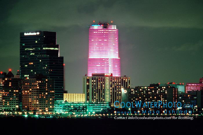 downtown Miami at night.Miami, Florida