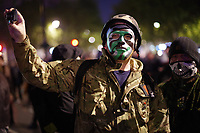 Million Mask March. Anonymous protesters in Trafalgar Square, London.  5th November 2017 05/11/2017.<br /> CAP/SDL<br /> &copy;Stephen Loftus/Capital Pictures