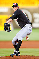 Kannapolis Intimidators starting pitcher Myles Jaye #10 in action against the Greensboro Grasshoppers at NewBridge Bank Park on May 15, 2012 in Greensboro, North Carolina.  The Grasshoppers defeated the Intimidators 11-2.  (Brian Westerholt/Four Seam Images)