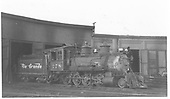 3/4 engineer's-side view of D&amp;RGW #278 in front of the Gunnison roundhouse.<br /> D&amp;RGW  Gunnison, CO  Taken by Maxwell, John W. - 9/1948