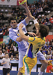 13.01.2013 Granollers, Spain. IHF men's world championship, prelimanary round. Picture show Gonzalo Matias Carou Marcel   in action during game between Brazil vs Argentina at Palau d'esports de Granollers