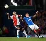 19.09.2019 Rangers v Feyenoord: Luciano Narsinghand James Tavernier