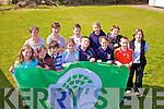 Pupils from 5th & 6th class at Ballinskelligs National School with their 2nd Green Flag for Energy Awareness on Thursday last front l-r; Gracie Ni? Chuinneagai?n, Luke O? Cinne?ide, Emer Ni? Shu?illeabhain, Cian O Gealbhai?n, Saoirse Ni? Chiarmhaic, Luke O? Se?, back l-r; Laoise Nic Aogain(Principal), No?iri?n Ui? Chonnroigh, Liam O? Connro?igh, Ellie Ni? Scanlain, Niall O? Se?, Bridget King...Ref Sinead