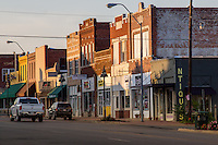 Route 66 through downtown Bristow Oklahoma.
