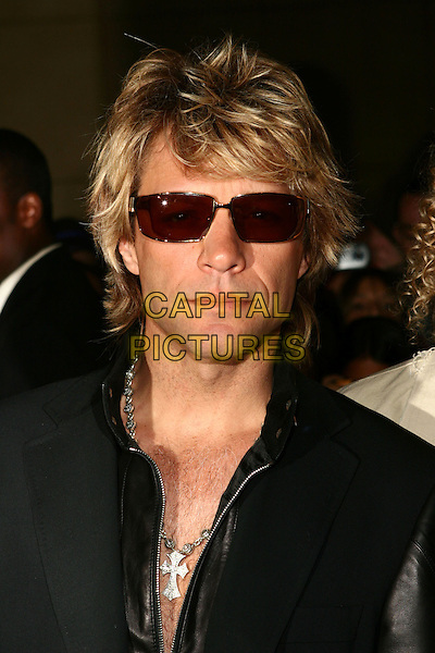 BON JOVI - JON BOB JOVI .2005 World Music Awards Arrivals held at the Kodak Theatre, Hollywood, California..August 31st, 2005 .Ref: ZL.headshot portrait sunglasses shades cross crucifix.www.capitalpictures.com.sales@capitalpictures.com.© Capital Pictures.