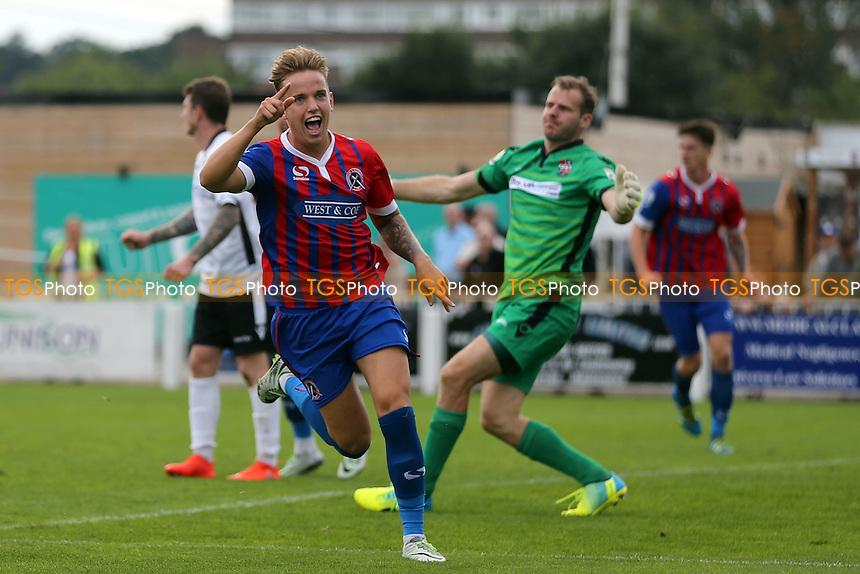 Jordan Maguire-Drew of Dagenham celebrates scoring the second goal during Bromley vs Dagenham and Redbridge, Vanarama National League Football at Hayes Lane on 24th September 2016