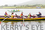 The Callinafercy U16 Girls Crew who finished in first position at the OTW Regatta in Cahersiveen on Sunday pictured bow - stern; Katie Boyle, Sarah Kennedy, Aoife Murphy, Orla Murphy & coxed by John Joe O'Sullivan.  Cormane finished in second and Valentia in third place.