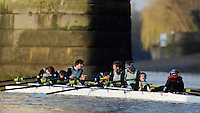 "London; GREAT BRITAIN; Cambridge University Trial Eights for crew selection for 157th Boat Race [April 2011]  raced over the Championship Course Putney to Mortlake  on the River Thames. Wednesday  - 08/12/2010   [Mandatory Credit; ""Photo, Peter Spurrier/Intersport-images].Crews..CUBC. Bake; Middx Station.Bow, Nick EDELMAN, 2. Charlie PITT-FORD, 3. Josh PENDRY, 4. Alex ROSS, 5. Geoff ROTH, 6. Derek RASUSSEN, 7. David NELSON, Stroke. Mike THORP and cox Liz BOX...CUBC Shake; Surrey Station.Bow, Jamie LOGIE, 2. Andrew VIQUERTAT, 3. James STRAWSON, 4. Ben EVANS, 5. Dan RIX-STANDING, 6. Hardy CUBASCH, 7. George NASH, stroke. Joel JENNINGS and cox Tom FIELDMAN."