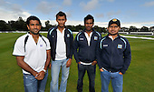 Cricket - ODI Summer Tri-Series - Scotland V Ireland V Sri Lanka at Grange CC - Edinburgh - heavy overnight rain and constant drizzle has delayed the start of the first match of the series between Ireland and Sri Lanka - picture shows some of the Sri Lanka squad members at the ground- Picture by Donald MacLeod - 11.07.11 - 07702 319 738 - www.donald-macleod.com