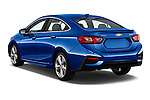 Car pictures of rear three quarter view of 2016 Chevrolet Cruze Premier 4 Door Sedan Angular Rear