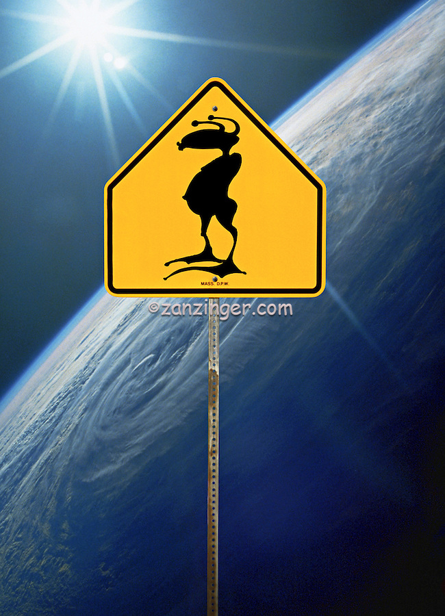 Alien Crossing Sign, Planet Earth, Concept, icon, crossing, human beings, Ancient, Aliens, Visit Earth,