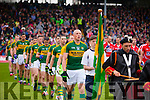 Kieran Donaghy Kerry players in the pre match parade before the Munster Final at Fitzgerald Stadium, Killarney on Saturday evening.