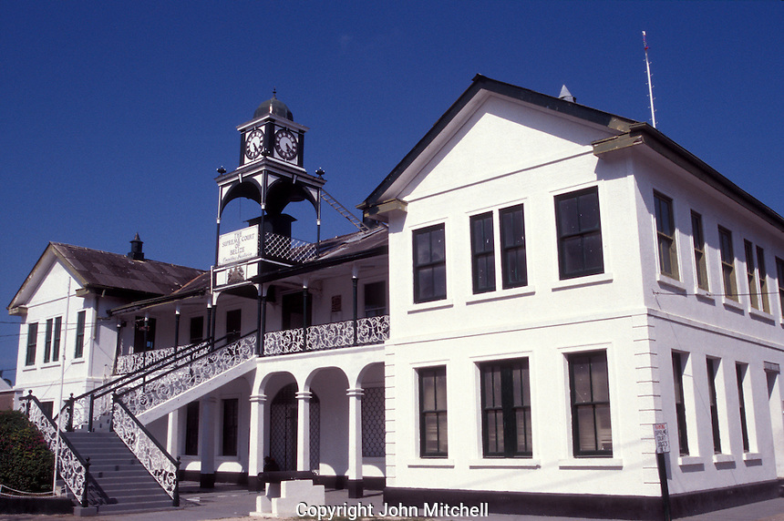 The Supreme Court of Belize building in downtown  Belize City, Belize