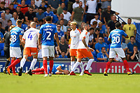 Injury concern for Ronan Curtis of Portsmouth during Portsmouth vs Luton Town, Sky Bet EFL League 1 Football at Fratton Park on 4th August 2018