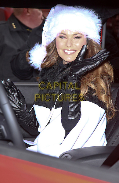 07 December 2013 - Las Vegas, NV -  Shania Twain. Shania Twain serves as Grand Marsha at Opportunity Village's Las Vegas Great Santa Run.<br />  CAP/ADM/MJT<br /> &copy; MJT/AdMedia/Capital Pictures