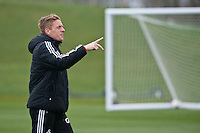 Thursday 20 March 2014<br /> Pictured:Garry Monk, Manager of Swansea City<br /> Re: Swansea City Training at their Fairwood training facility, Swansea, Wales,UK