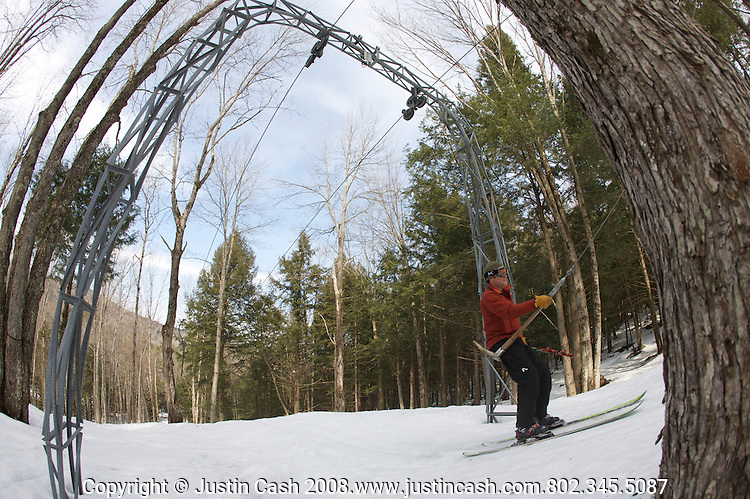 Cosmic Hill Ski Area is a privately owned personal t-bar and snowmaking area in Peter Avedisian backyard, Vermont.