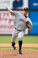 at Five County Stadium August 16, 2009 in Zebulon, North Carolina. (Photo by Brian Westerholt / Four Seam Images)